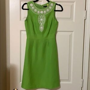 Antonio Melani Green Dress with White Beading